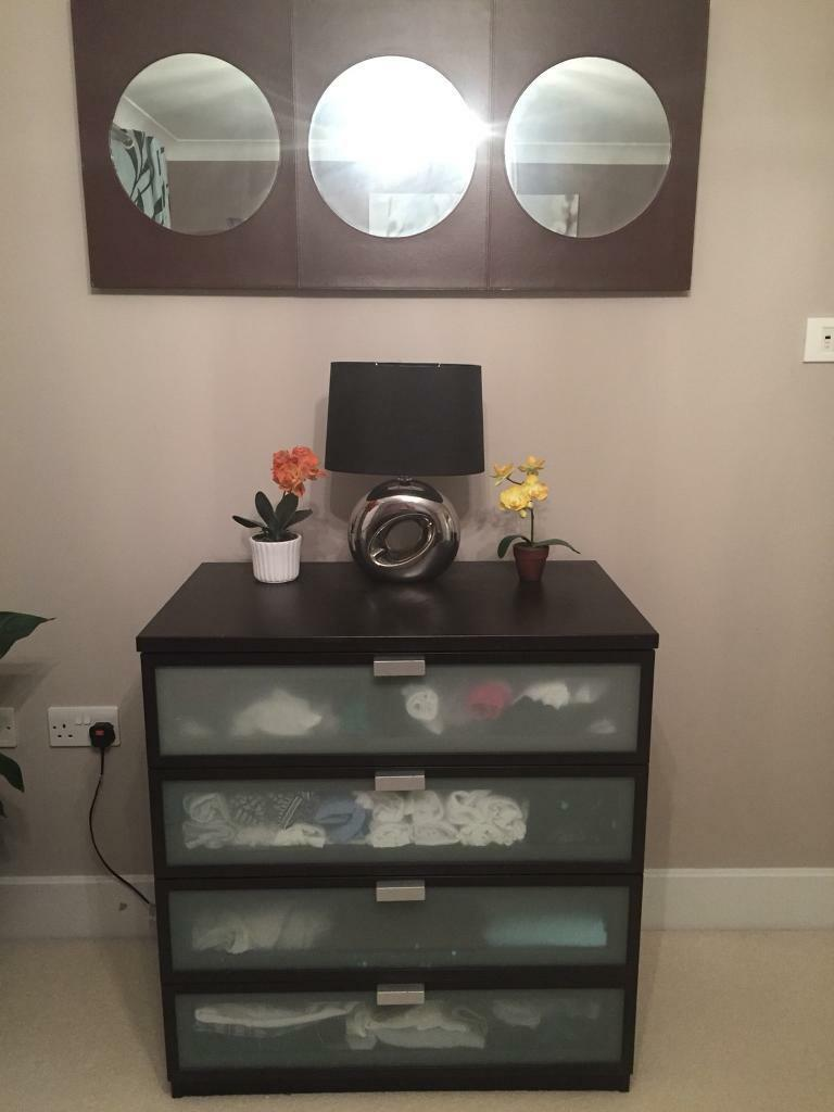 Chest Drawer with matching Wall Decor Mirror