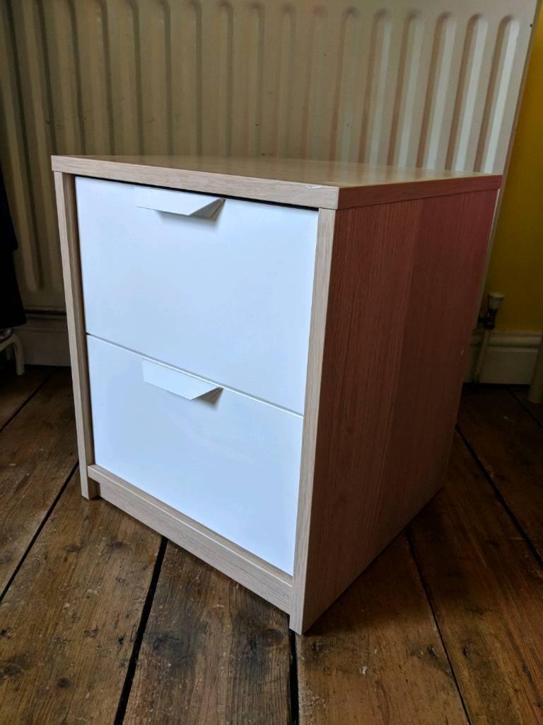 Quick Sale Ikea Askvoll Bedside Table 2 Drawers In