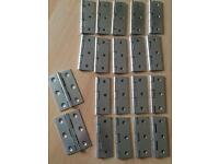 "10 Pairs 3""- 75 mm Zinc Plated Internal Door Butt Hinges"