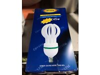 45W white LED bulb with 6400K cool daylight output