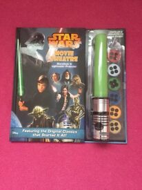 Star Wars Movie Theatre Story Book and Lightsaber Projector