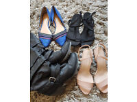 Size 8 Women Shoes (x4) New Looks, Rocket Dog, H&M