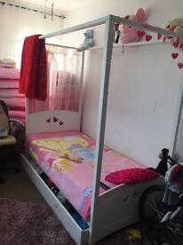 Kids single bed for princess