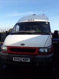 Used transit van 90/350 long wheel base supper high roof