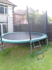 Kaz Sports 14 ft Trampoline Package with Extra's – Very good condition