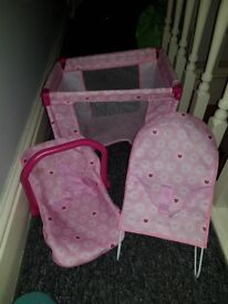 Baby cot car seat and chair
