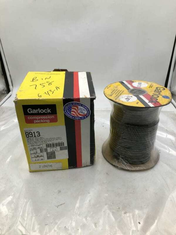 "Garlock Synthepak 8913 1/4"" Square Braid Compression Packing 50ft -NIB"