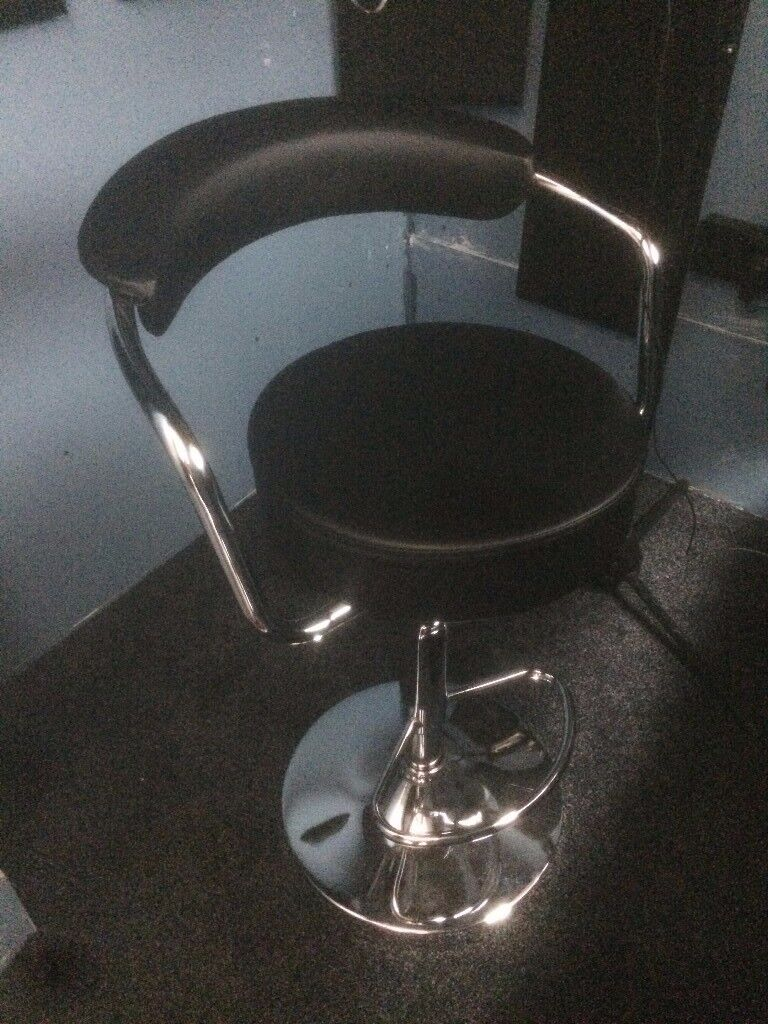 Bar Stool - black, height adjustable