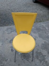 Yellow leather cafe/bistro chairs