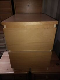 Bedside Drawers / tables / Cabinets - Malm Ikea