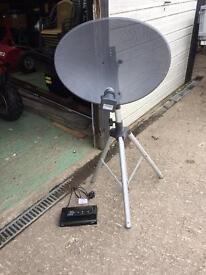 Caravan/camping satellite dish