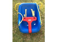 Little tikes baby seat for swing with harness