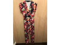 Red London Playsuit size 8