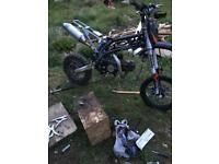 125cc pitbike engine black gears all down fully working