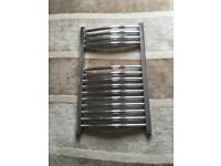 Chrome radiator towel rail. 50cm x 80cm. Complete with mountings. Perfect working order
