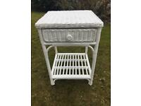 Shabby chic occasional bedside table or similar in white