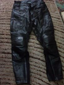 Mens Motorcycle Leather Trousers