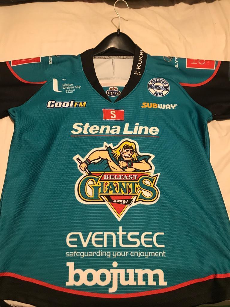 249f9a32a Belfast Giants jersey 2018 19 Teal jersey