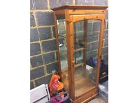 Ducal solid pine display cabinet