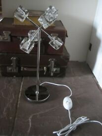 Ikea ice cube style light. Isasa design.Chrome stand with glass cubes. Dimmer switch attached.