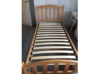 Single Pine Bedframe with drawers
