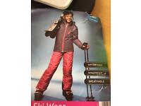 Girl's Ski Suit NEW age 11-12