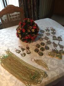 Box Of Christmas Decorations (43 Items) - See Listing & All Photos
