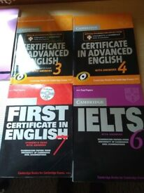 English books CAE, CPE, IELTS