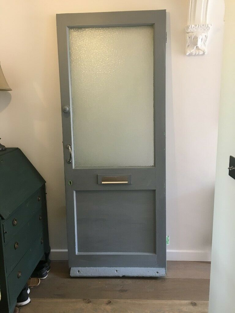 Solid Wood Front Door With Large Gl Pane In Bath Somerset Gumtree