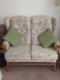 High back sofa and chair