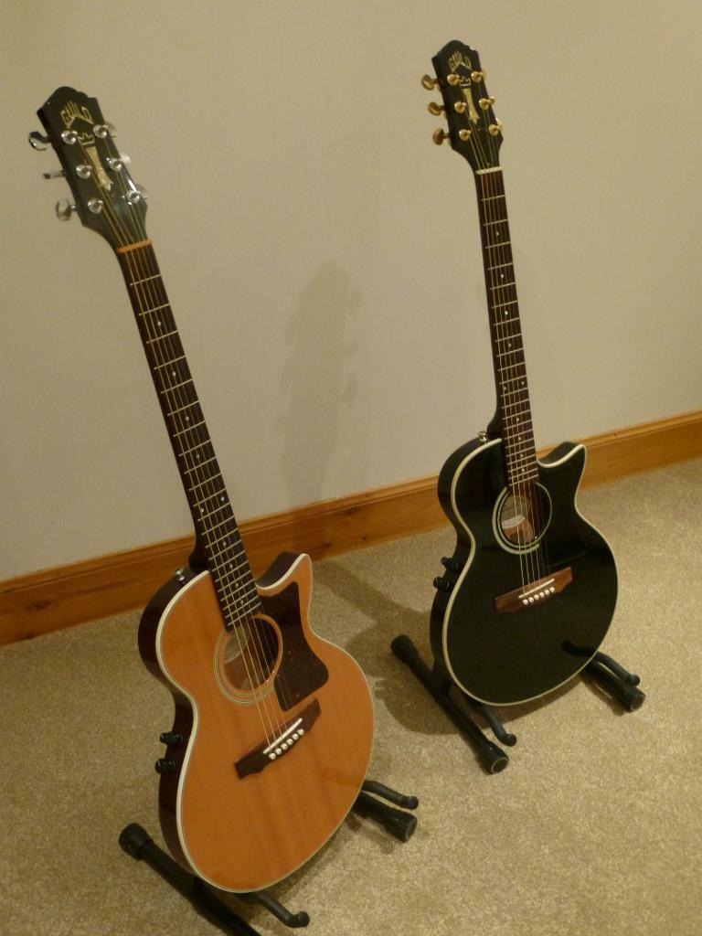 Matching Pair Of Guild S4 Ce Songbird Electro Acoustic