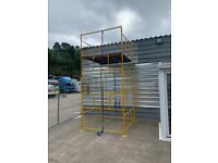 FREE DELIVERY Scaffold/Scaffolding Tower Slim Work Height: 4,5m 14'8ft POWDER COATED