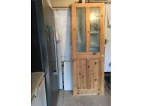 Pine and part glazed wood internal door used 198x68.5