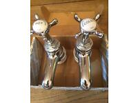Bristan 1901 Sink or Bath Taps, Crome. Brand New with Fitting Instructions