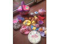 Lots & lots of play food/ make believe tea sets