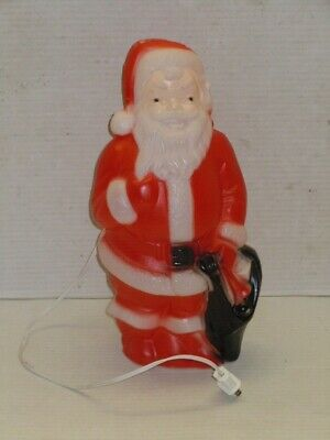 """VINTAGE EMPIRE 13"""" INDOOR LIGHTED SANTA CLAUS BLOW MOLD WITH CORD WORKS"""