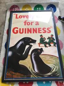 Giant Retro Guinness framed print