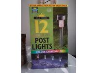 Solar Power LED Post lights
