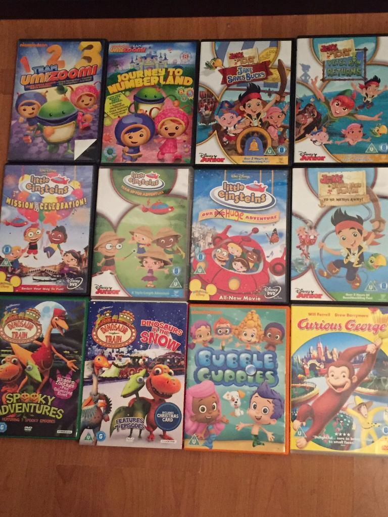 17 Kids DVDs: Little Einsteins, Umizoomi, Curious George, Paw Patrol, Bubble Guppies, Dinosaur