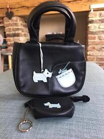 Mini Black Radley Handbag & Coin Purse