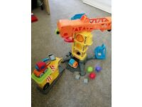 V tech toot toot construction site unplayed with as new
