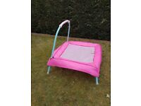 ELC pink and blue trampoline