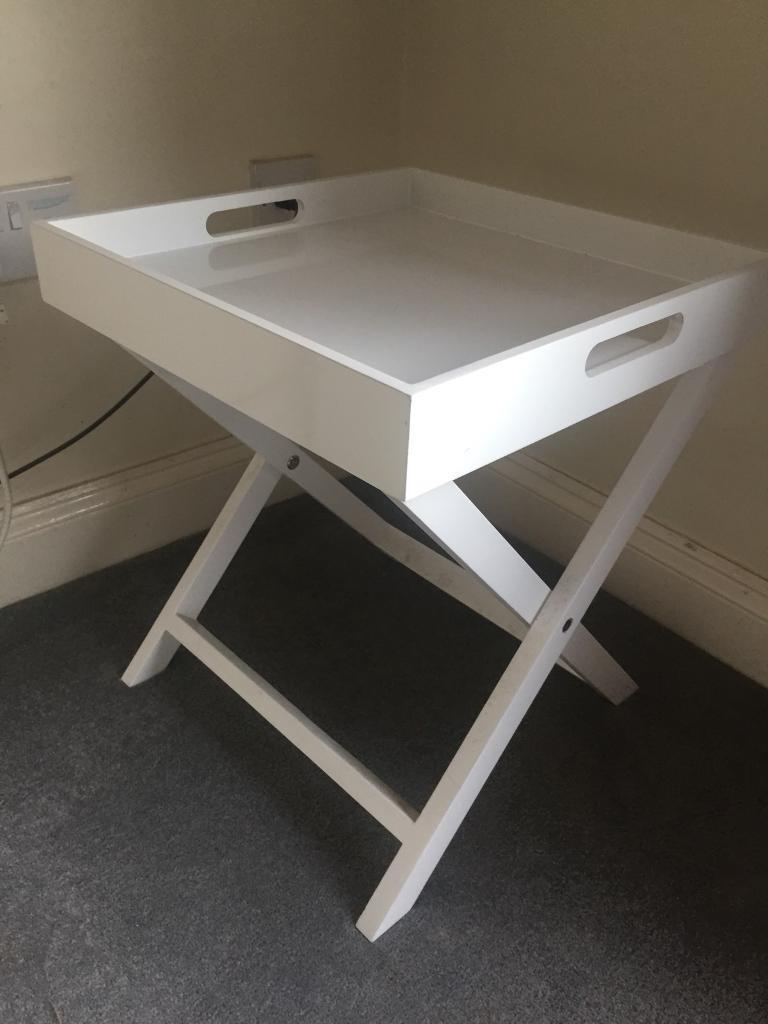 Miraculous Habitat White Side Table Tray Bedside Table In Abingdon Oxfordshire Gumtree Download Free Architecture Designs Itiscsunscenecom