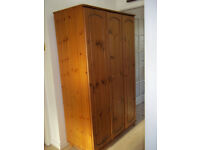 Large double Bedroom Pine wood wardrobe W 111 H 179 D 52