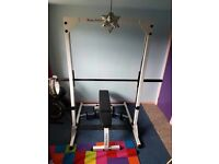 Smith's weight bench & weights