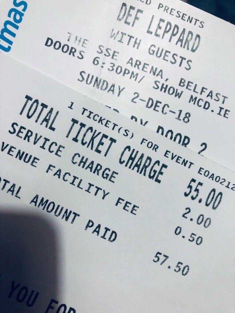 Def Leppard Ticket Belfast | in Strabane, County Tyrone | Gumtree