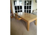 Light Oak Coffee Table with Draw - USED