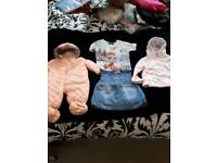 SELECTION OF BABY GIRLS CLOTHES VARIOUS ITEMS