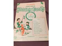 Children's carols music book