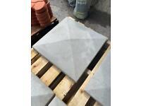 •New• Smooth Concrete Pier / Pillar Cap Stone